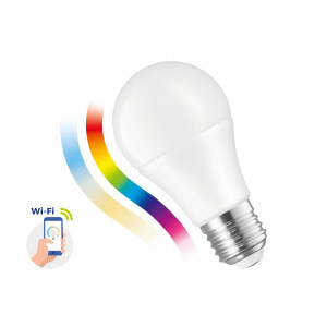SMART LED bulb 9W E-27 Wi-Fi RGBW CCT DIMM