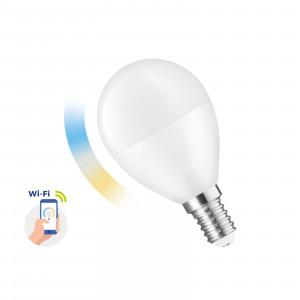 SMART LED ball bulb 5W E-14 Wi-Fi CCT DIMM