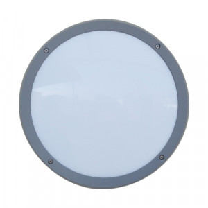NUVOLA LED/13,5W,4000K,IP65, GREY/OPAL