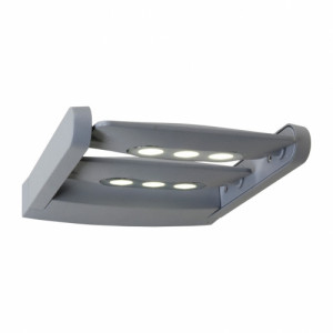 AWAX 2xLED/9W,IP 54,SILVER/CLEAR