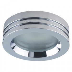 DOWNLIGHT 1xGU10/50W, CHROME,FROST.,IP65