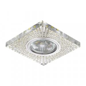 DOWNLIGHT GU10/50W,0,2W LED CHR/MIR,FLEX