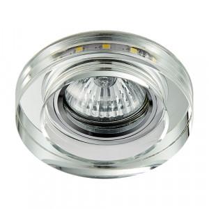 DOWNLIGHT GU10/50W,LED/3W, CHR/MIR,CLEAR
