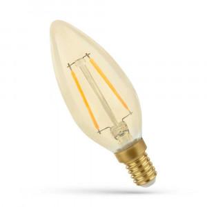 LED FILAMENT E14 SW 2W RETRO SHINE GOLD WOJ14070