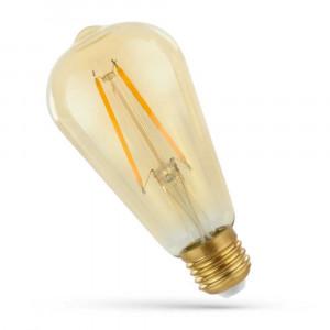 LED FILAMENT E27 ST64 2W RETRO SHINE GOLD WOJ14079