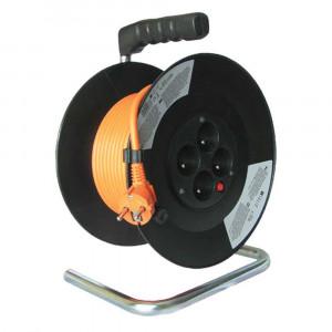 Predlžovací kábel na bubne 4-zásuvkový 25m 07060 (PB03)