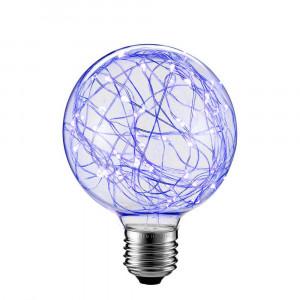 LED DEKORATÍVNA ŽIAROVKA modrá E27 2W G80-NI