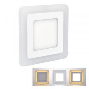 Solight LED podsvietený panel, podhľadový, 18W + 6W, 1530lm, 4000K, štvorcový -V