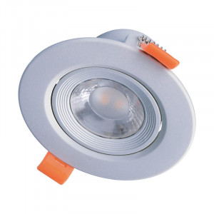 Solight LED podhľadové svietidlo bodové, 9W, 720lm, 4000K, okrúhle, strieborné
