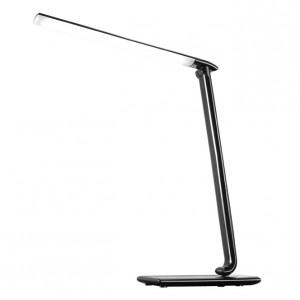 Solight LED stolná lampička stmievaťelná, 12W, voľba teploty svetla, USB, čierny lesk