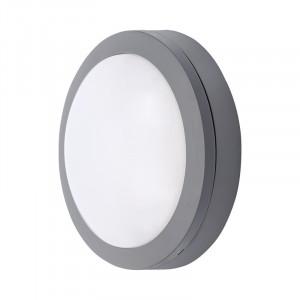 Solight LED vonkajšie osvetlenie guľaté, sivé, 13W, 910lm, 4000K, IP54, 17cm