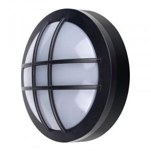 Solight LED vonkajšie osvetlenie guľaté s mriežkou, 20W, 1500lm, 4000K, IP65, 23cm, čierna