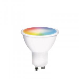 SMART LED WIFI žiarovka, GU10, 5W, RGB, 400lm